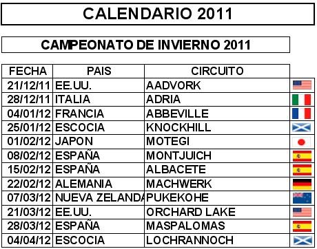 Calendario 2011 Espana.F1 Race Comunidad Automobilista Simracing Calendario Invierno 2011